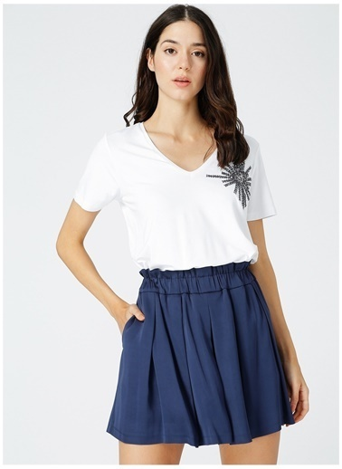 Fabrika Comfort Fabrika Comfort Kadın Beyaz V Yaka T-Shirt Beyaz